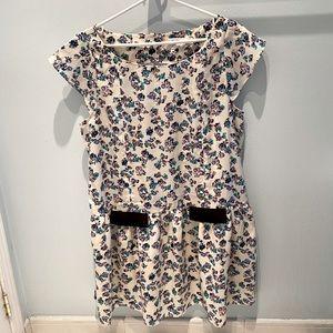 BCBGenerαtion • White & purple short sleeve dress